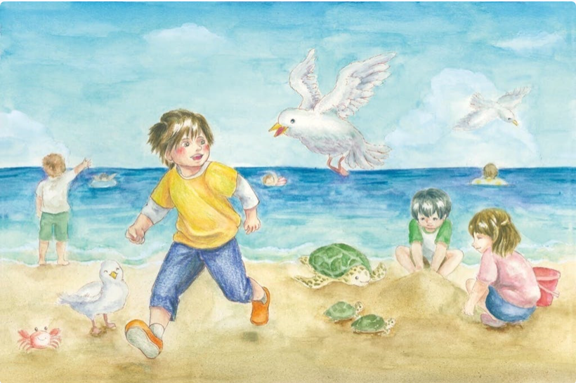 卒業プロジェクトで環境啓発の絵本を制作|横山陽二 オフィシャルサイト ちそう菰野 名古屋外国語大学